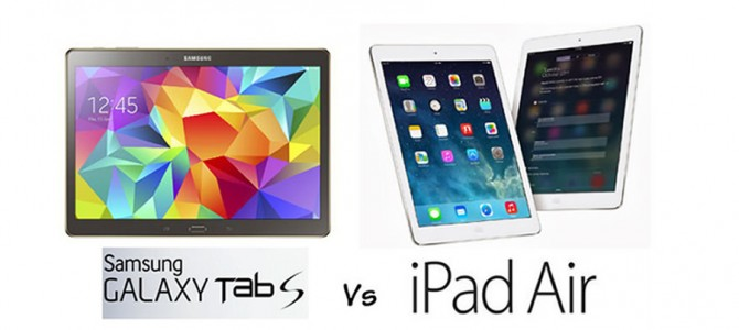 iPad Air vs. Samsung Galaxy Tab S