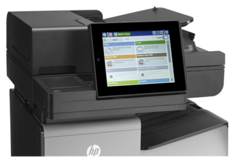 Panou Control la HP Officejet Enterprise Color Flow X585z