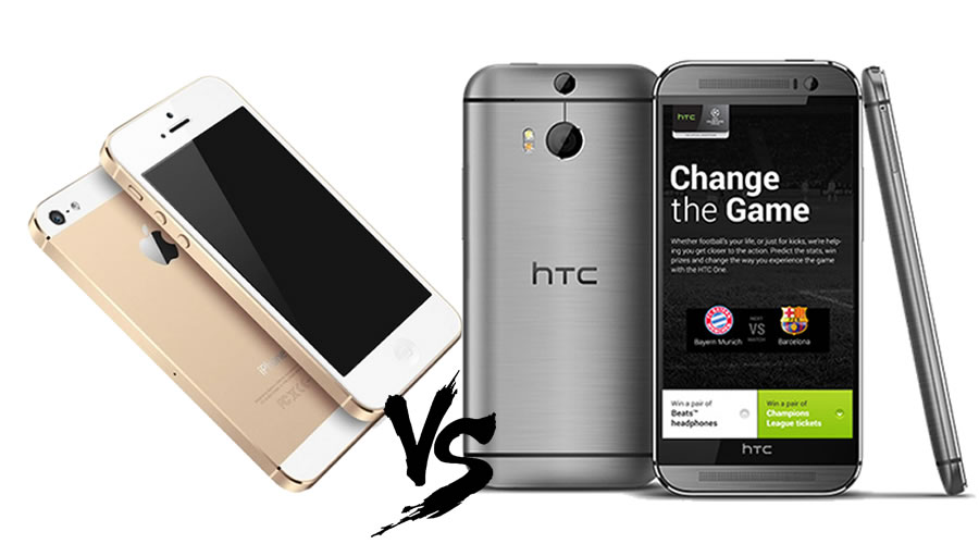 HTC One M8 vs. iPhone 5S