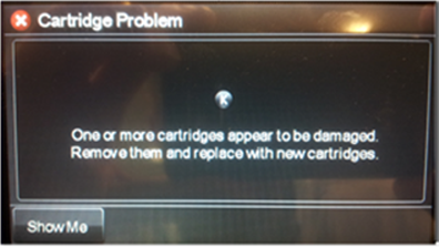 eroare cartuse compatibile hp